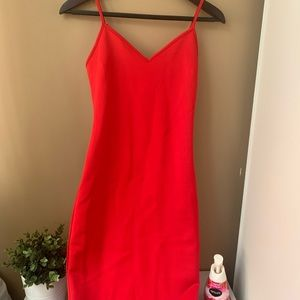 Red Fitted Dress